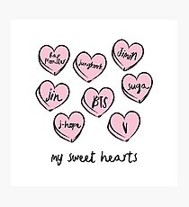 BTS hearts Photographic Print