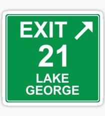 Exit 21 Lake George Sticker