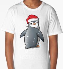 Penguin merry kissmyass christmas sweater Long T-Shirt