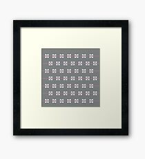 Minimalist weighted companion cube Framed Print