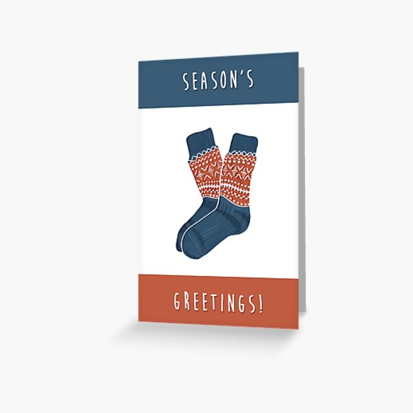 Christmas Socks - Season's Greetings! Greeting Card