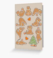 Weihnachtsplätzchen-Yoga Grußkarte