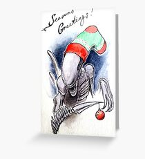 Horror Holidays - Extraterrestrial Holiday Greeting Card
