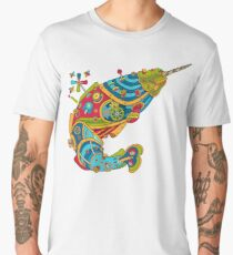 Narwhal, cool art from the AlphaPod Collection Men's Premium T-Shirt