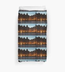 Brussels - Grand Place Facades Golden Glow Duvet Cover