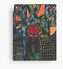 City Rose Abstract Water Color Canvas Print