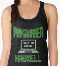 Retro Programmer Design Fluent in Coding Haskell Women's Tank Top