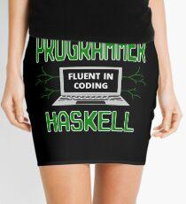 Retro Programmer Design Fluent in Coding Haskell Mini Skirt