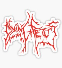 Band Dying Fetus Logo Red (Old Version) Sticker