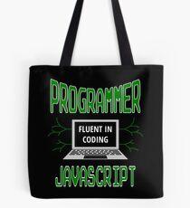 Retro Programmer Design Fluent in Coding JavaScript Tote Bag