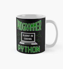 Retro Programmer Design Fluent in Coding Python Mug