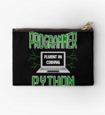 Retro Programmer Design Fluent in Coding Python Studio Pouch