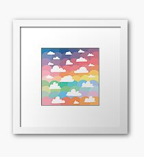 Clouds and Rainbows Framed Print