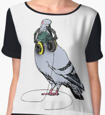 Techno Pigeon Chiffon Top