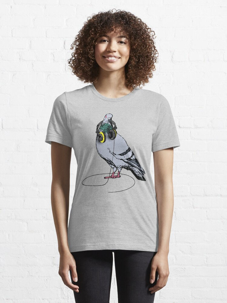 Alternate view of Techno Pigeon Essential T-Shirt