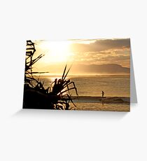 Laura - Sunset Glide Greeting Card