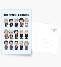 The Fifteen Doctors Postcards