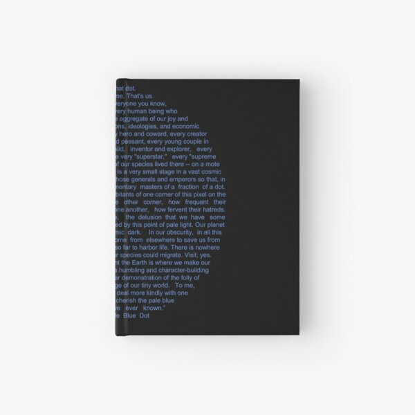 Pale Blue Dot Hardcover Journal
