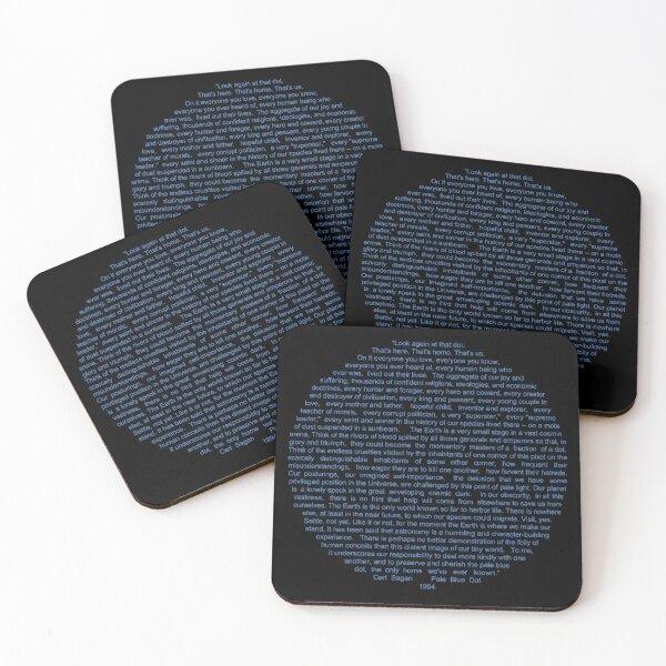 Pale Blue Dot Coasters (Set of 4)