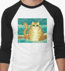 Cat And Pollen Men's Baseball ¾ T-Shirt