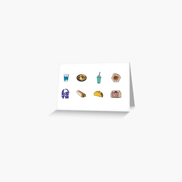 Taco Bell Variety Pack Greeting Card