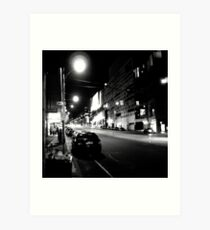 Night streetscape of Melbourne - Photo by Xan Art Print