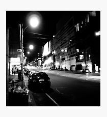Night streetscape of Melbourne - Photo by Xan Photographic Print