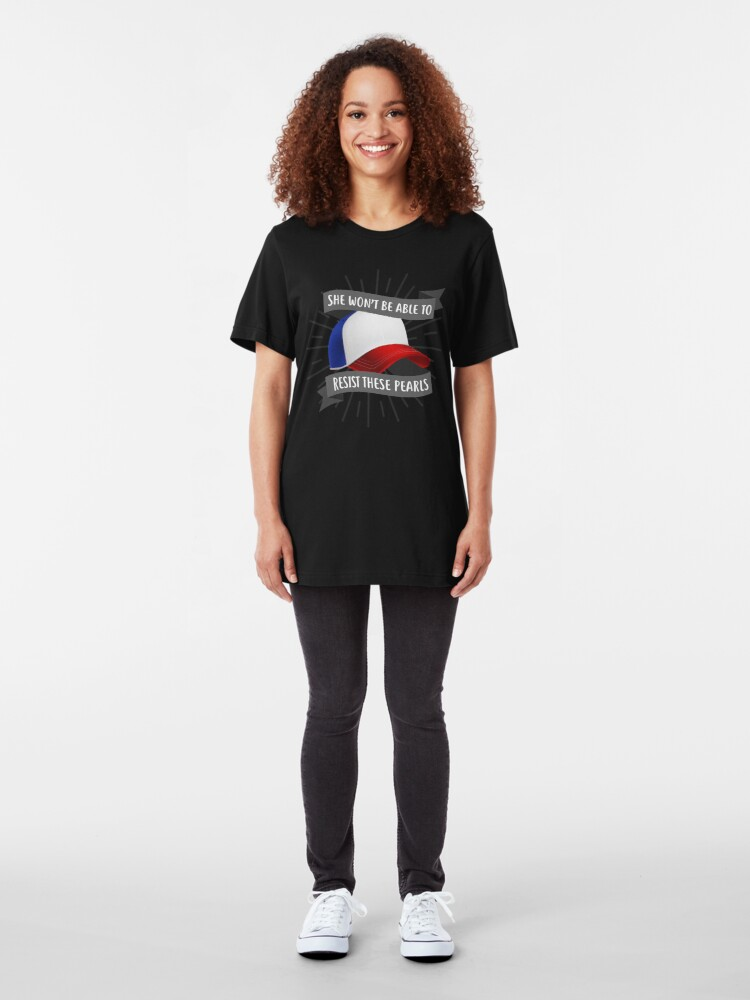 Alternate view of She won't be able to resist these pearls Slim Fit T-Shirt