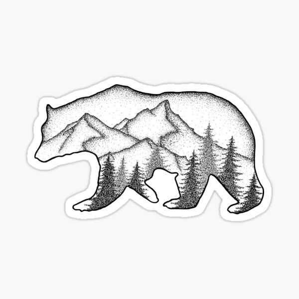 Bear Wild Sticker