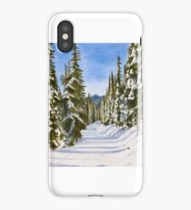 Snow Scene Watercolour Painting iPhone Case/Skin