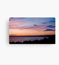 9 Mile Sunset Canvas Print