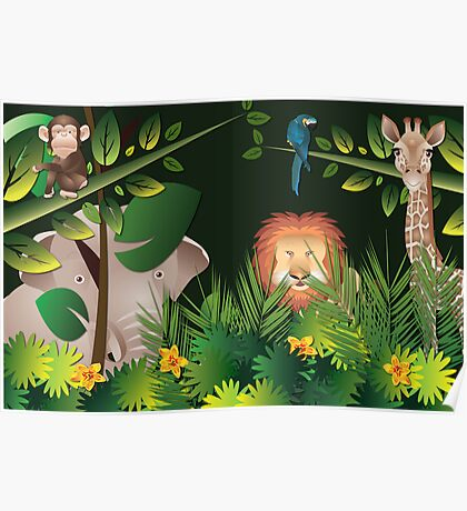 African Jungle Poster