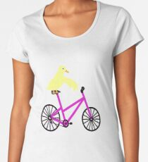 Duck On A Bicycle  Women's Premium T-Shirt
