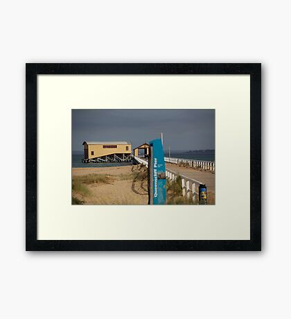 seascapes #167, jetty pier Framed Print