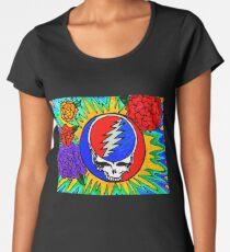 Psychedelic Stealie Grateful Dead fan art Women's Premium T-Shirt