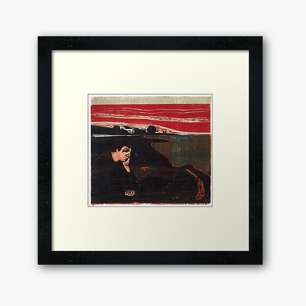 "Edvard Munch ""Evening. Melancholy I."", 1896 Framed Art Print"