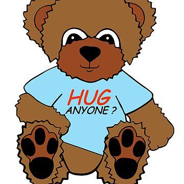 BEAR HUG ANYONE? (BLUE) by Arrow