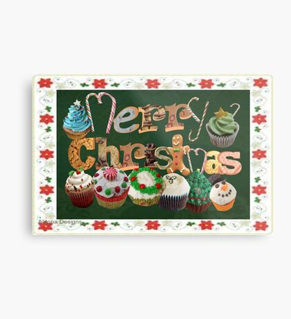Xmas Cookies & Sweets/ 3 autumn Leaves (20997u Views) Metal Print