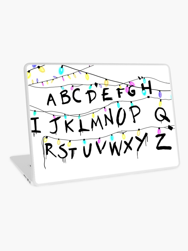Stranger Things Christmas Lights.Stranger Things Christmas Lights Laptop Skin