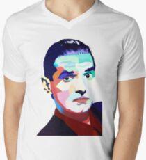 Portrait of Hans Holzel (Falco) Men's V-Neck T-Shirt