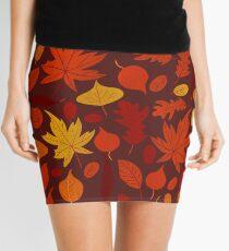 autumn leaves (brown) Mini Skirt
