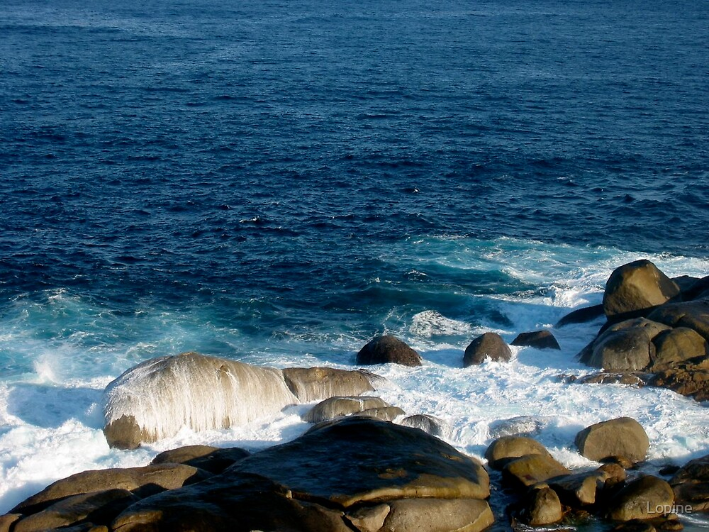 Ocean and rocks by Lopine
