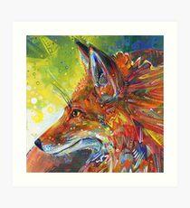 Red fox painting - 2012 Art Print