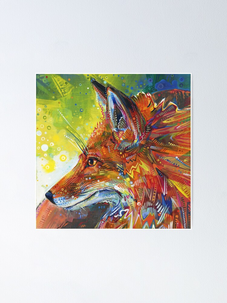 Alternate view of Red Fox Painting - 2012 Poster