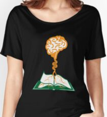 Brain Roots Knowledge Book Loving Geek Women's Relaxed Fit T-Shirt