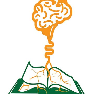 Brain Roots Knowledge Book Loving Geek by Chickini