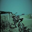 Bikes at the beach by Annie Smit