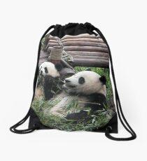 Young Giant Pandas Drawstring Bag