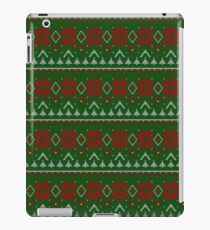 Knitted Christmas pattern red green iPad Case/Skin