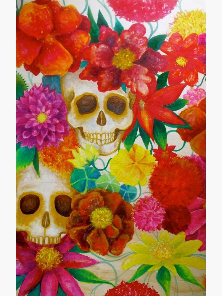 sugar skull Mexican flower art de melaniedann